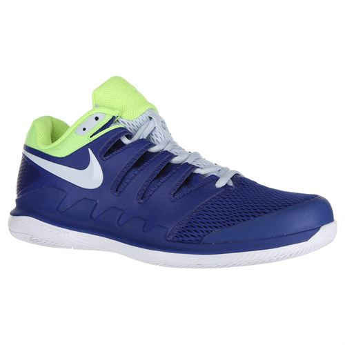 0a561b557fe0 Nike Air Zoom Vapor X Mens Tennis Shoe - Indigo Force Half Blue Volt