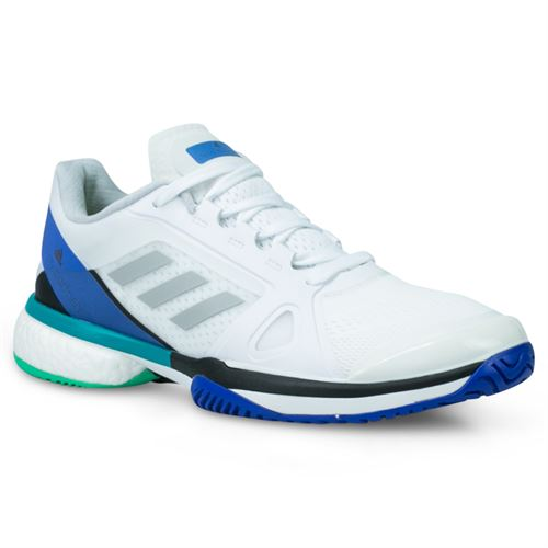 af9edf0364892 adidas ASMC Barricade Boost Womens Tennis Shoe - White Stone Ray Blue