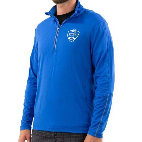 Fila W&S Embellished Sinatra Mock 1/2 Zip Jacket Mens Turkish Sea Blue FM811751 471