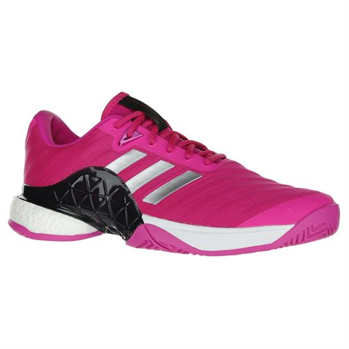 huge selection of 87f91 879ea adidas Barricade Boost 2018 Mens Tennis Shoe - PinkSilverInk