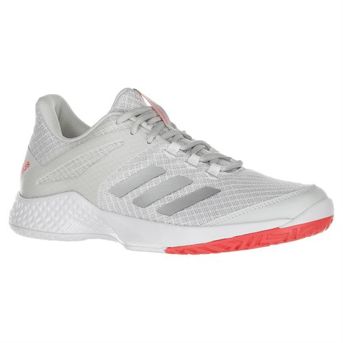 adidas Adizero Club 2 Womens Tennis Shoe - White/Silver/Grey One
