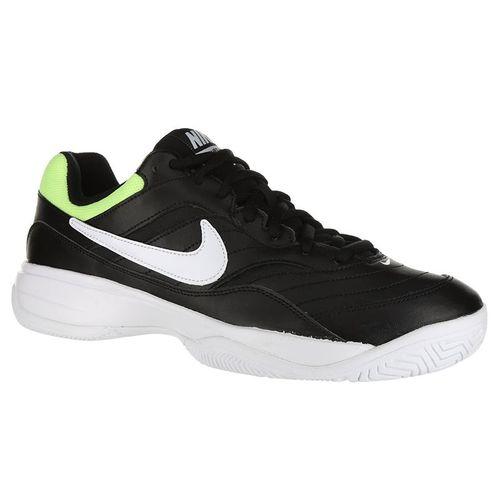 f51147cf418 Nike Court Lite Wide Mens Tennis Shoe - Black White Volt Glow