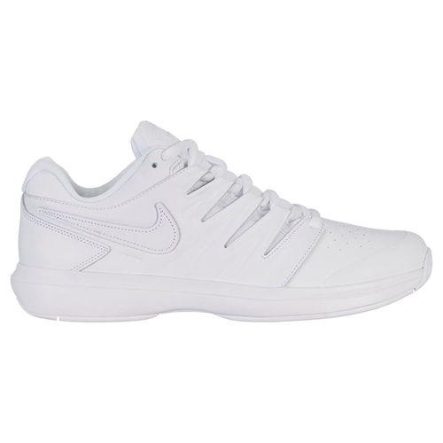 Nike Air Zoom Prestige Leather Mens Tennis Shoe - White/Black