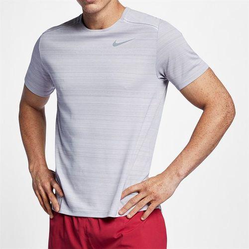 Nike Dri Fit Miler Crew - Atmosphere Grey Heather/Reflective Silver