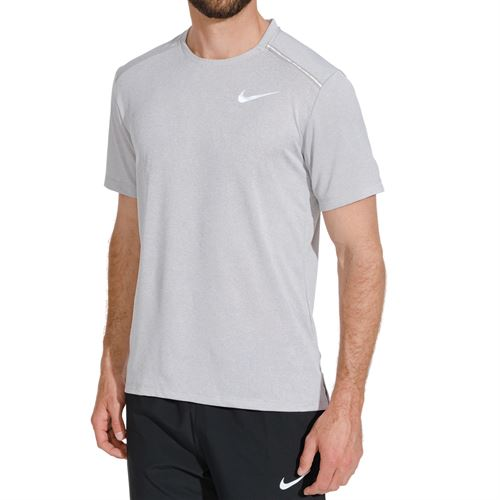0e27d7838 Nike Dri Fit Miler Crew - Atmosphere Grey Heather/Reflective Silver