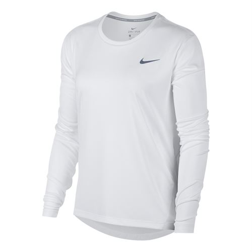 dc582aaf2ff2 Nike Miler Long Sleeve Top - White Reflective Silver