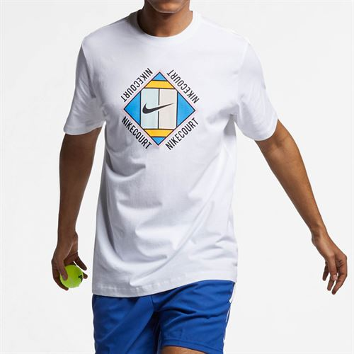 78424ed4 Nike Court Graphic Tee, AO1138 100 | Men's Tennis Apparel