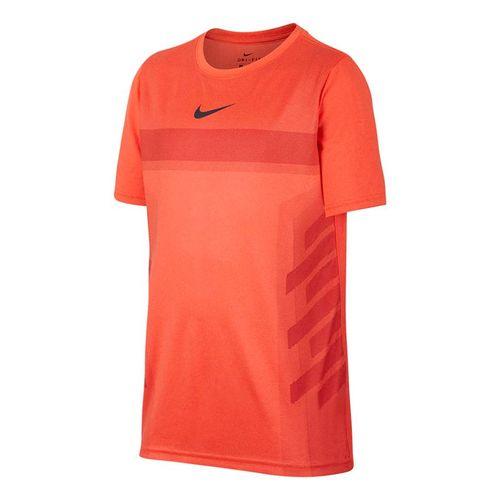 Nike Boys Court Dry Rafa Crew - Hyper Crimson/Gridiron