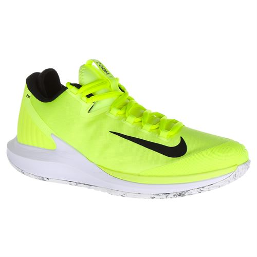 best loved 9fed9 bf247 Nike Court Air Zoom Zero Premium Mens Limited Edition Tennis Shoe - Volt  Glow Black