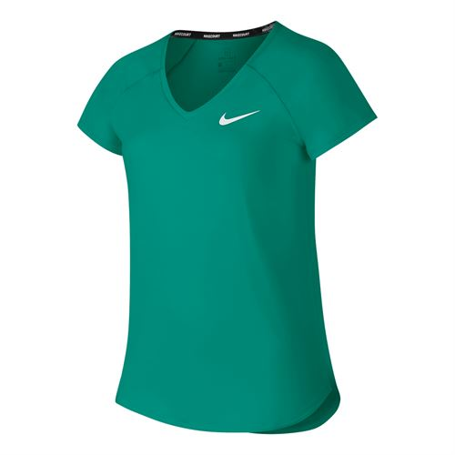 Nike Girls Court Pure Top - Neptune Green/White