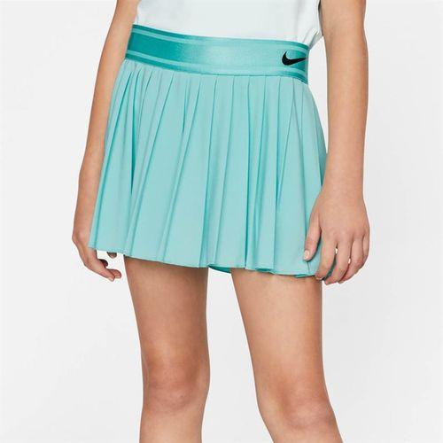 Nike Girls Court Victory Skirt - Light Aqua/Black