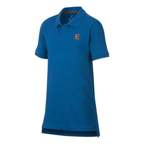 Nike Boys Court Polo - Military Blue/White