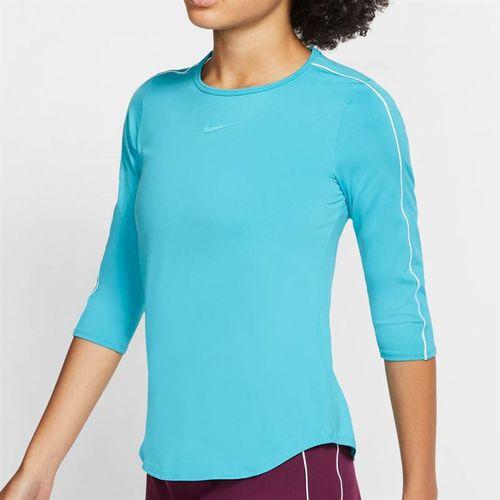 Nike Court 3/4 Sleeve Top - Teal Nebula/White