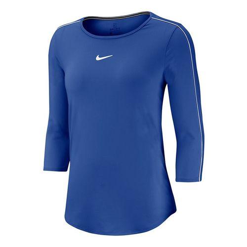 Nike Court 3/4 Sleeve Top Womens Game Royal/White AQ7658 480