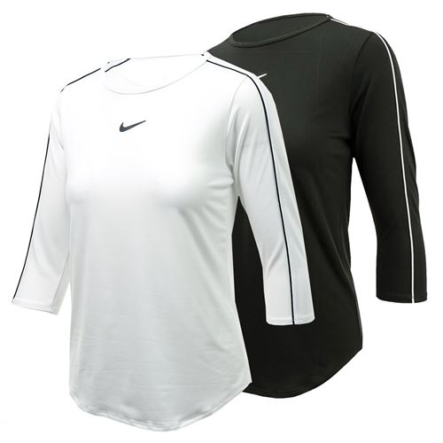 073a43d0 Nike 3/4 Sleeve, AQ7658-BW | Women's Tennis Apparel