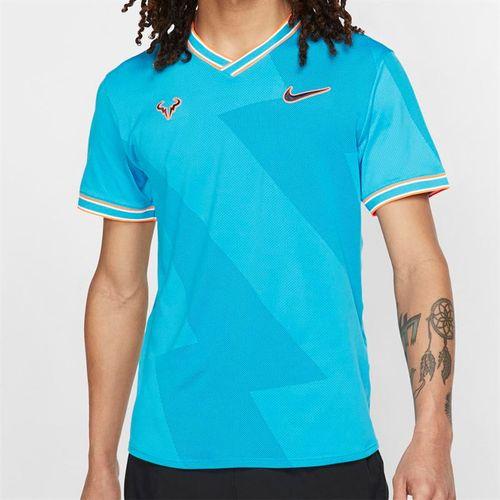 ff28eff5f Nike Rafa Aeroreact Jacquard Shirt - Light Blue Fury/Obsidian