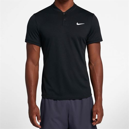 Nike Court Dry Blade Polo - Black/White
