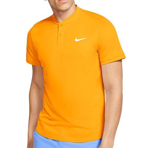 Nike Court Dri Fit Blade Polo Shirt Mens Sundial/White AQ7732 717