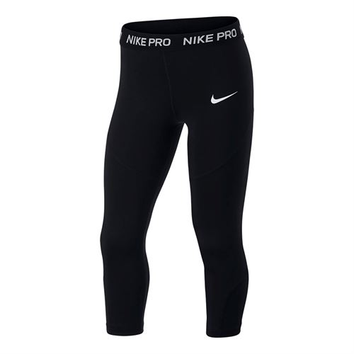 Nike Girls Pro Capri Tight - Black/White