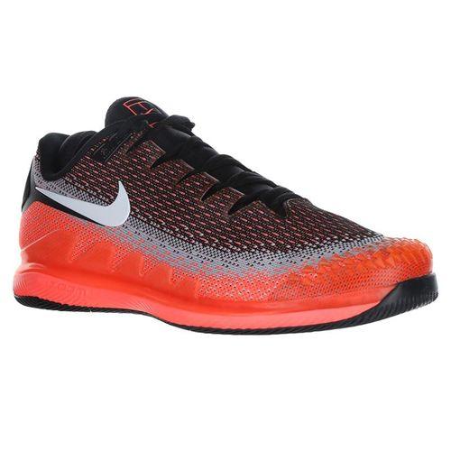 Nike Air Zoom Vapor X Knit Mens Tennis Shoe - Black/White/Dark Grey/Hot Lava
