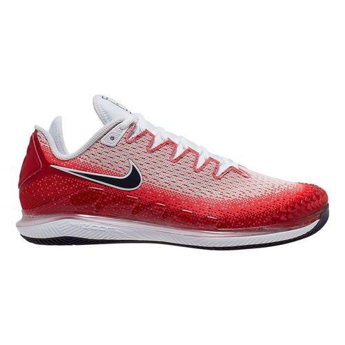Nike Court Air Zoom Vapor X Knit Mens Tennis Shoe Laser Crimson/Gridiron/Gym Red/White AR0496 600