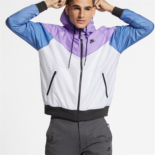 Nike Sportswear Windrunner Jacket - White Space Purple Indigo Storm Black b614b1338