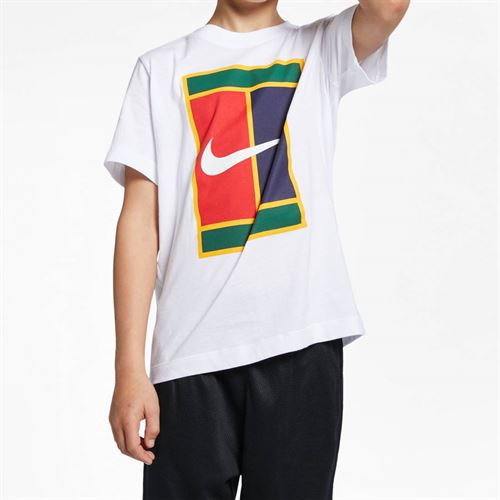 Nike Boys Court Heritage Tee - White