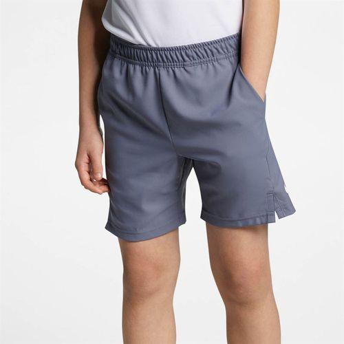 Nike Boys Court Dri Fit Short - Light Carbon/White
