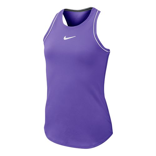 Nike Girls Court Dry Tank - Psychic Purple/White