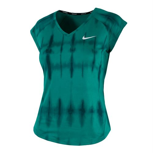 Nike Court Pure Printed Top - Neptune Green/White