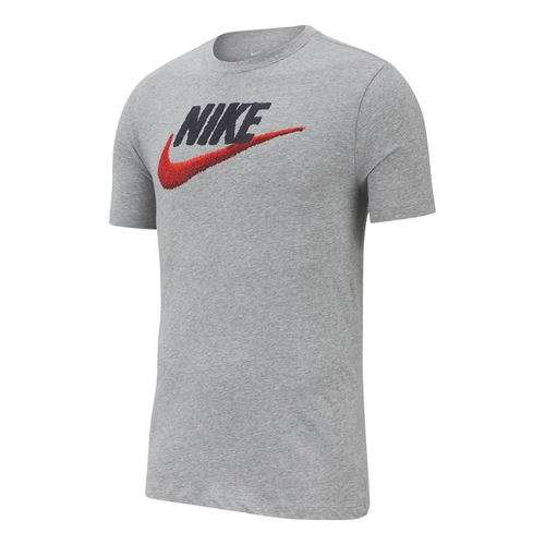 0c51e307 Nike Sportswear Tee - Dark Grey Heather/Black/University Red