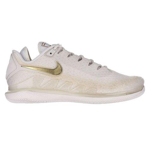 Nike Court Air Zoom Vapor X Knit Womens Tennis Shoe Phantom/Metallic Gold AR8835 003