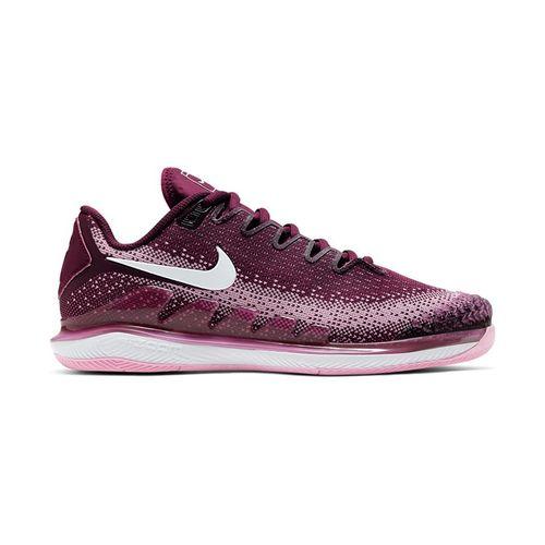 Nike Court Air Zoom Vapor X Knit Womens Tennis Shoe Bordeaux/White/Pink Rise AR8835 600