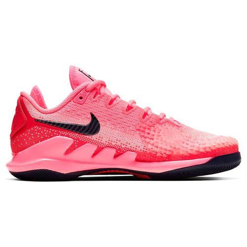 Nike Court Air Zoom Vapor X Knit Womens Tennis Shoe Laser Crimson/Blackened Blue/Pink AR8835 604