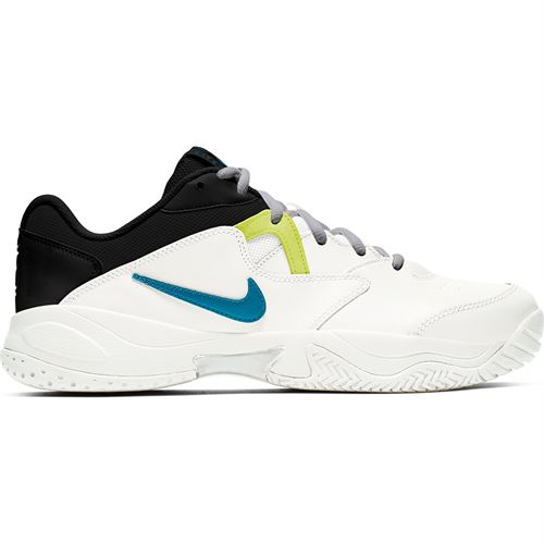 Nike Court Lite 2 Mens Tennis Shoe White/Neo Turquoise/Hot Lime/Light Smoke Grey AR8836 104