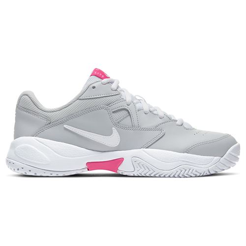 Nike Court Lite 2 Womens Tennis Shoe Grey Fog/White/Pink AR8838 002