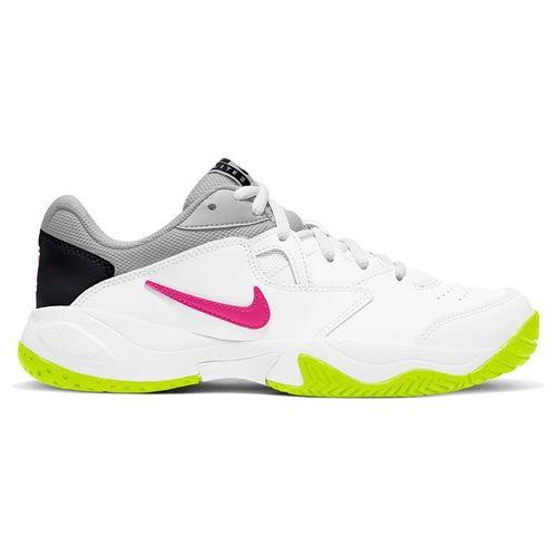 Nike Court Lite 2 Womens Tennis Shoe White/Laser Fuchsia/Hot Lime/Grey Fog AR8838 107