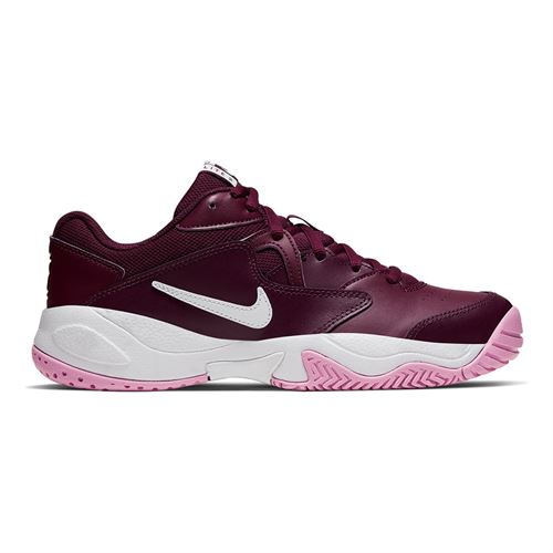 Nike Court Lite 2 Womens Tennis Shoe Bordeaux/White/Pink Rise AR8838 603