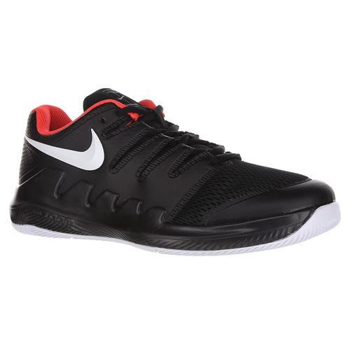 Nike Vapor X Junior Tennis Shoe - Black/White/Bright Crimson