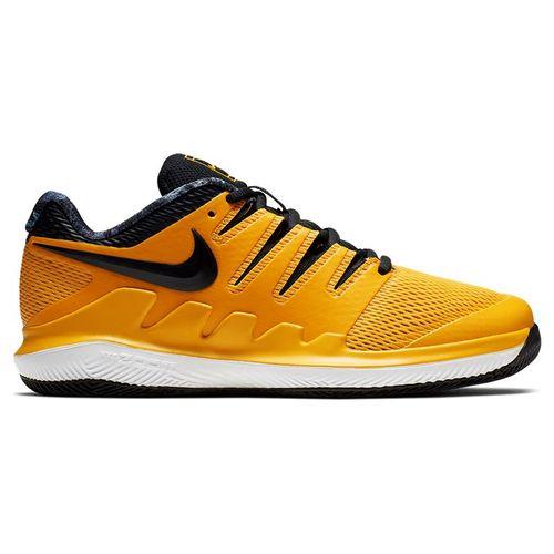 Nike Vapor X Junior Tennis Shoe - University Gold/Black/White/Volt Glow