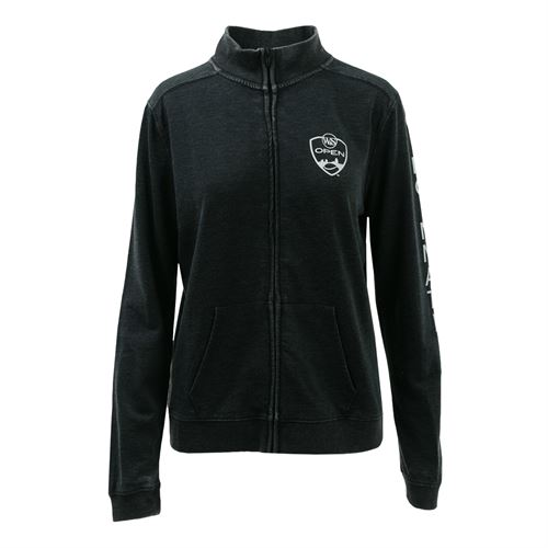 Western & Southern Open Womens Burnout Jacket - Charcoal