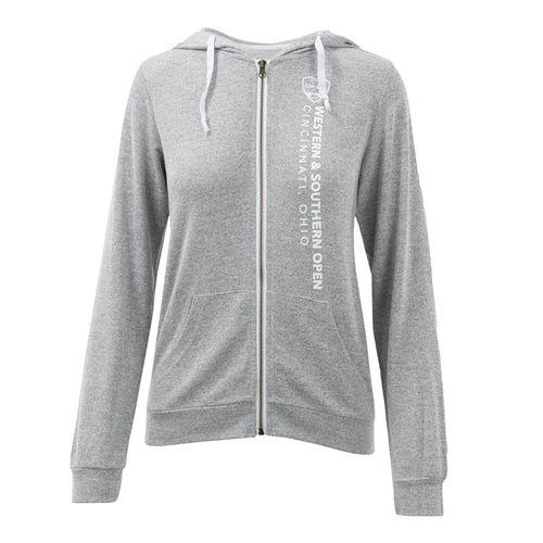 W&S Full Zip Jacket Womens Heather Grey ASW19 24