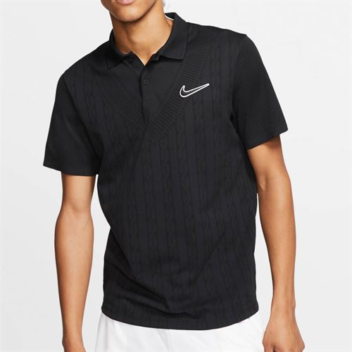 Nike Court Advantage Polo - Black/White