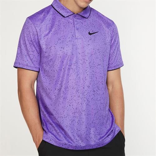 Nike Court Advantage Print Polo - Psychic Purple/Black