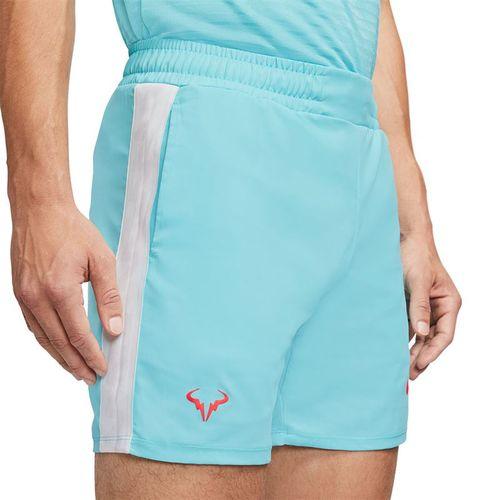 Nike Court Dri Fit Rafa Short Mens Polarized Blue/Laser Crimson AT4315 445