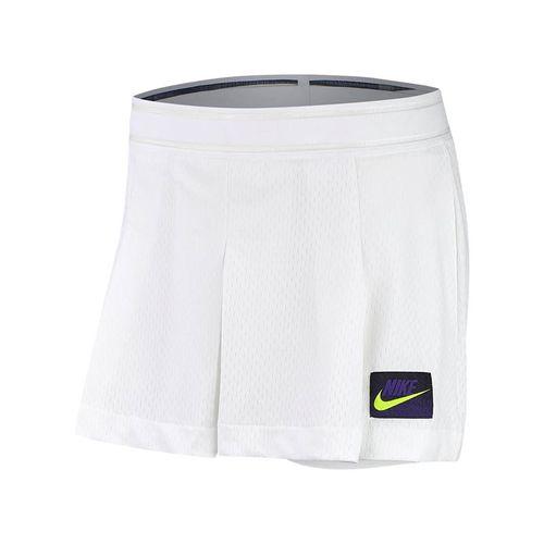 Nike Court Slam New York Short - White/Black/Court Purple/Volt