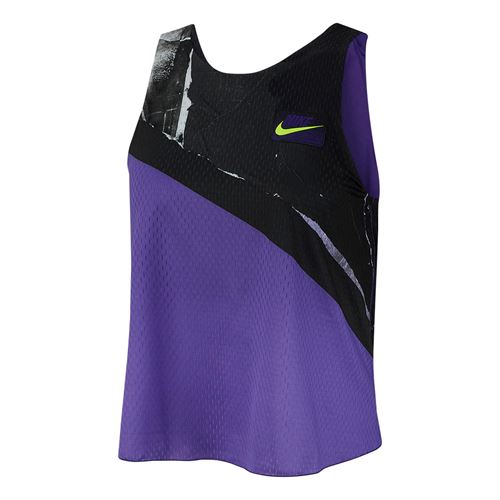 Nike Court New York Tank - Psychic Purple/Black/White/Volt