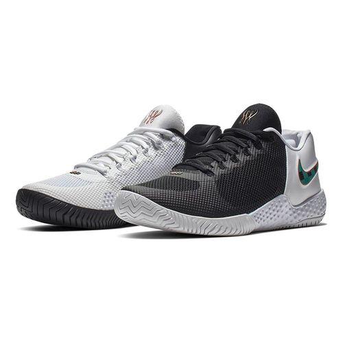 buy online 838bb 3636e Nike Flare 2.0 BHM Womens Tennis Shoe - Black Lucid Green White Metallic