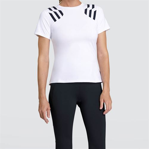 Tail Core Cap Sleeve Top - White
