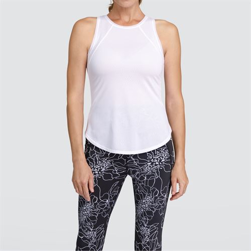Tail Core Criss Cross Tank - White